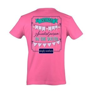 Simply Southern Pink Tee Size M